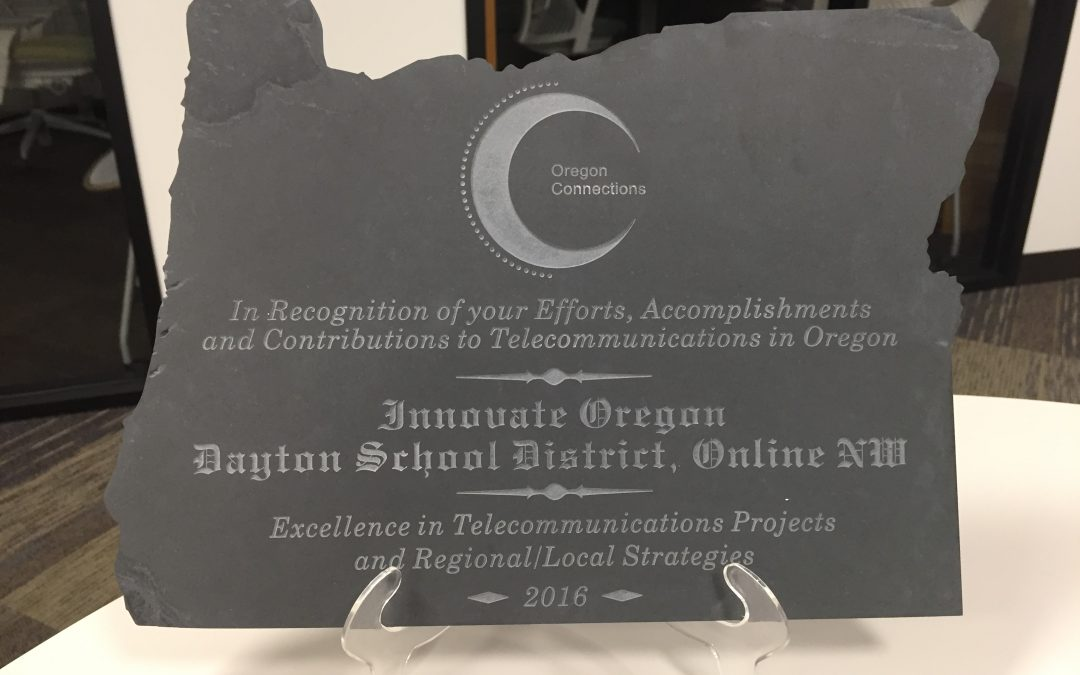 OnlineNW, with Innovate Oregon and the Dayton School District, win Telecommunication Award